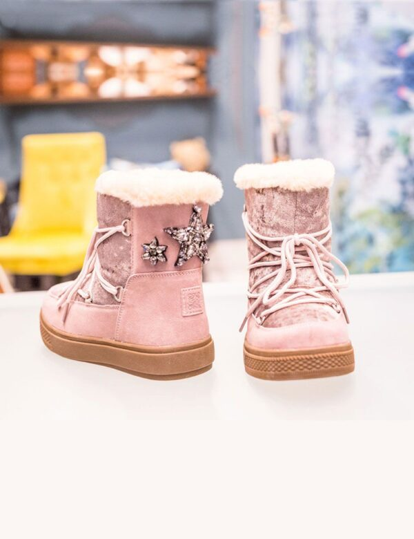 botas nieve rosa